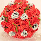 Hand-Tied Plastic Roses Bouquets