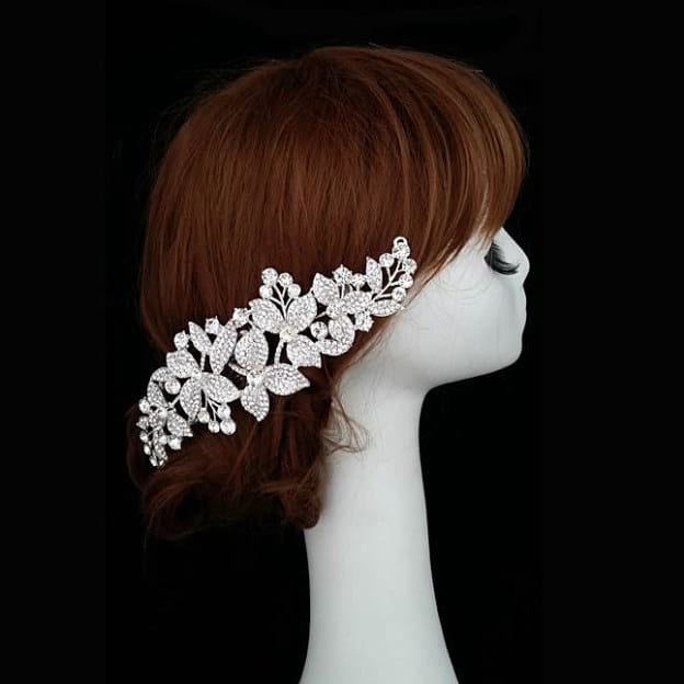 Alloy Ladies Combs & Barrettes With Rhinestone