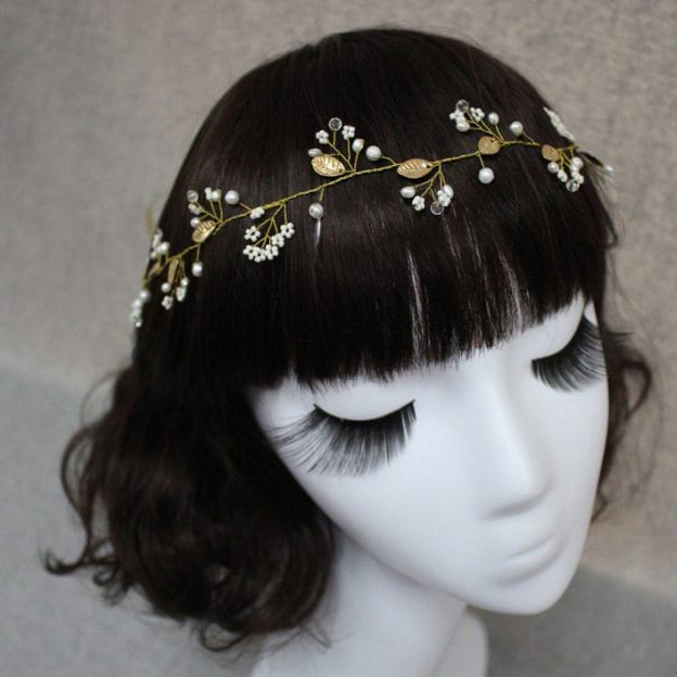 Imitation Pearls Ladies Headbands With Rhinestone Pearl