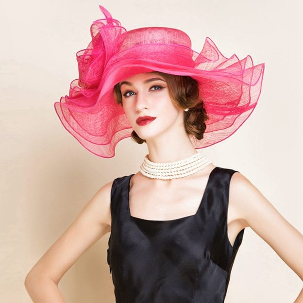 Ladies' Eye-catching/Amazing Cambric Tea Party Hats/Kentucky Derby Hats With Bowknot