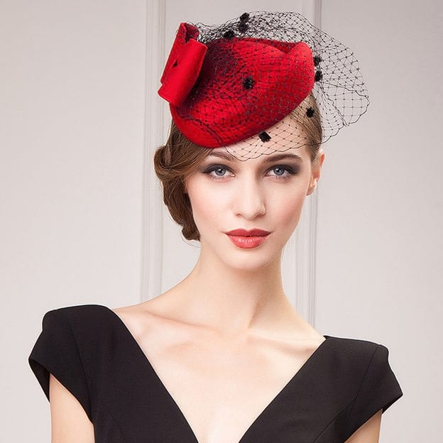 Ladies' Eye-catching/Elegant Wool Fascinators/Tea Party Hats With Tulle Bowknot