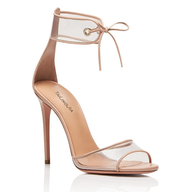 Women's PVC With Ankle Strap Heels Sandals Fashion Shoes