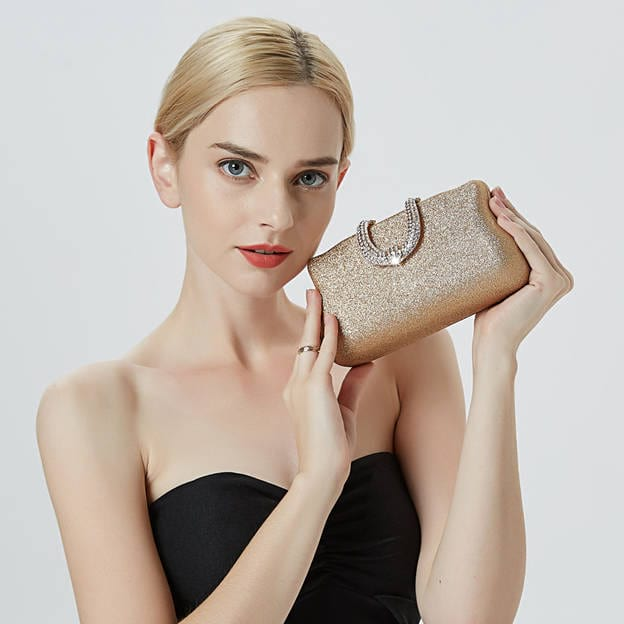 Attractive PU Clutches/Evening Bags With Rhinestone