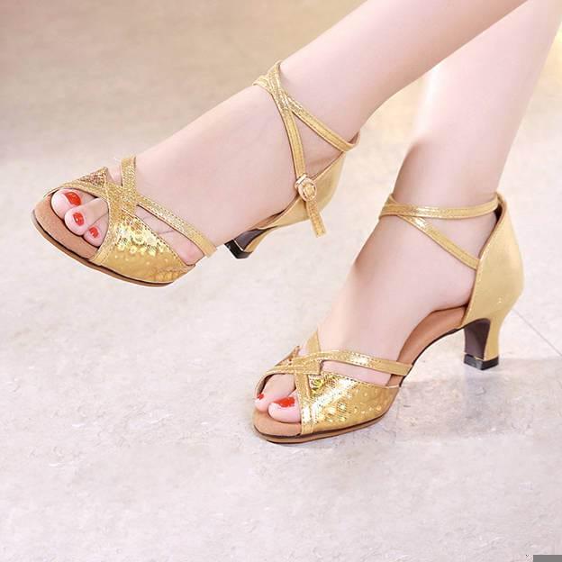 Women's PU With Buckle Heels/Peep Toe Dance Shoes