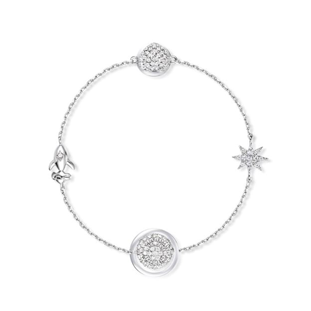 Women's Charming 925 Sterling Silver Bracelets With Cubic Zirconia
