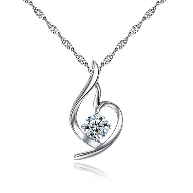 Women's Attractive Silver Necklaces With Cubic Zirconia
