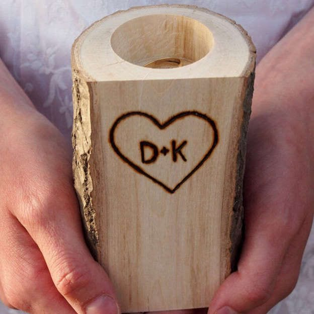 Personalized Ring Holder in Wood