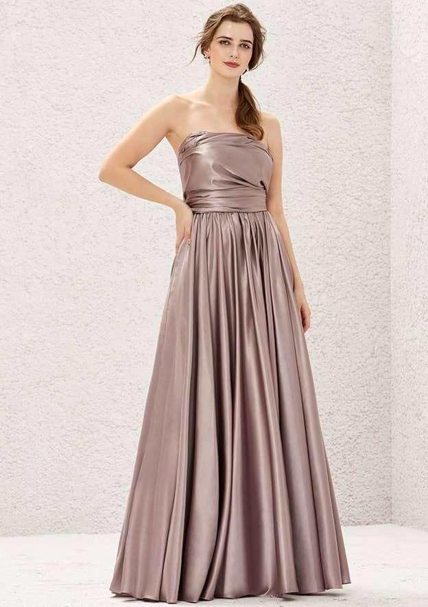 A-line/Princess Sleeveless Long/Floor-Length Charmeuse Convertible Bridesmaid Dress With Pleated