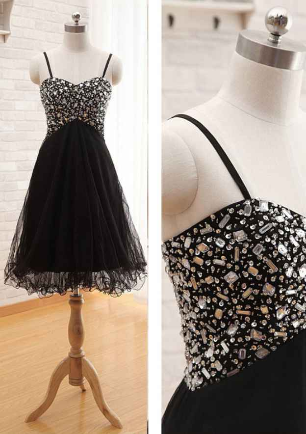 A-Line/Princess Sweetheart Sleeveless Knee-Length Organza Prom Dress With Beading