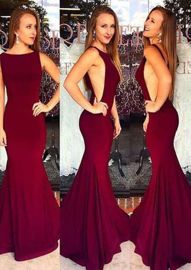 Trumpet/Mermaid Bateau Sleeveless Long/Floor-Length Elastic Satin Prom Dress