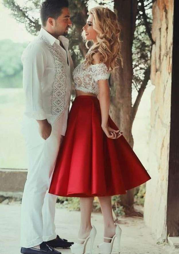 A-Line/Princess Off-The-Shoulder Sleeveless Tea-Length Satin Homecoming Dress