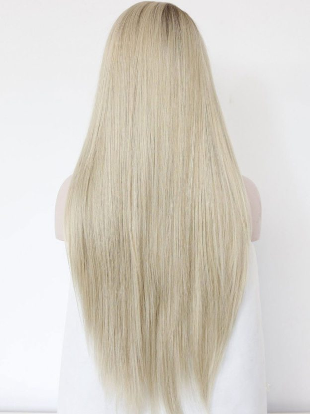 Long Straight Lace Front 100% Remy Human Hair Wigs