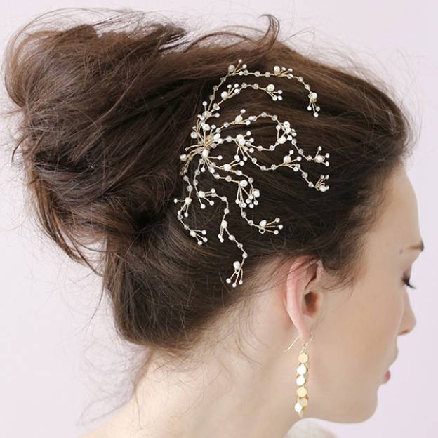 Alloy Ladies Hairpins With Rhinestone Pearl