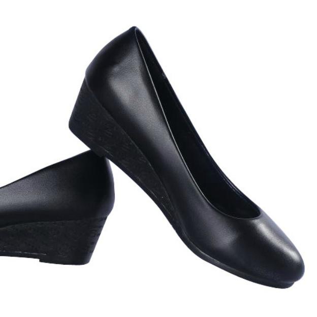 Close Toe Wedges Wedge Heel Pu Fashion Shoes