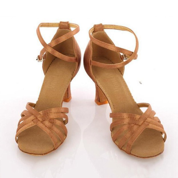 Sandals Dance Shoes Kitten Heel Suede Fashion Shoes With Braided Strap