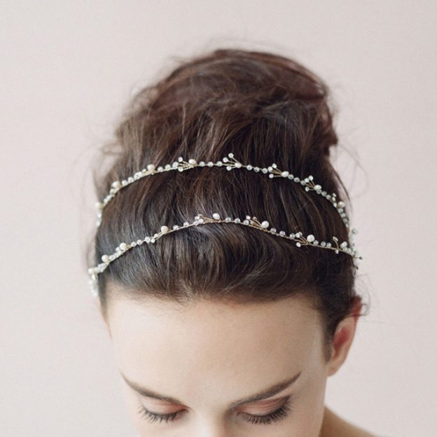 Rhinestone Ladies Headbands With Rhinestone Pearl