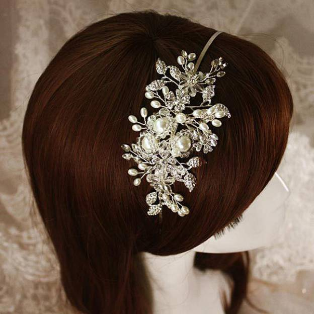 Alloy Ladies Headbands With Rhinestone Crystal