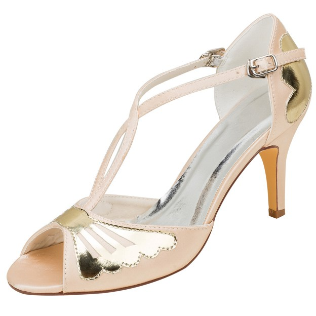 Pumps Sandals Wedding Shoes Stiletto Heel Satin Fashion Shoes With Buckle Others