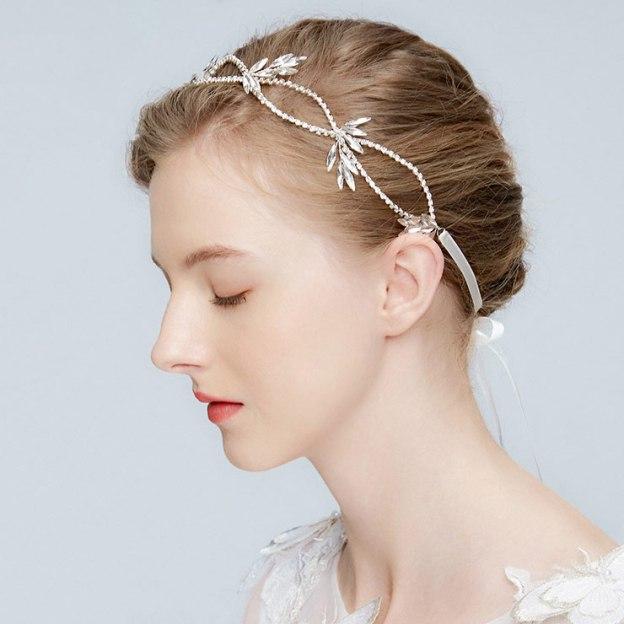 Alloy Ladies Headbands With Rhinestone