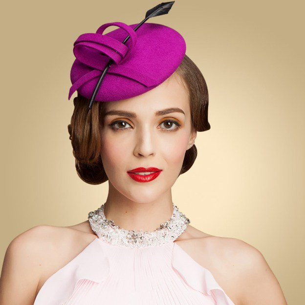 Wool Ladies Fascinators With Feather