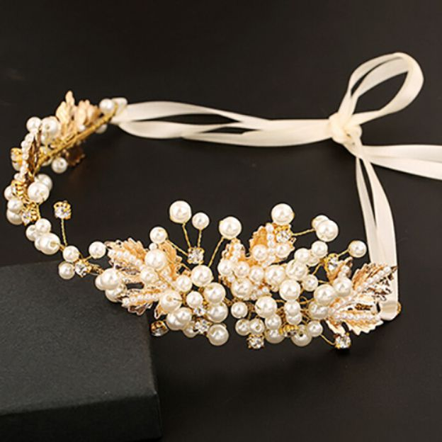 Alloy Ladies Tiaras With Pearl