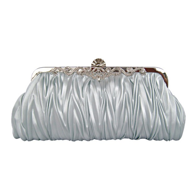 Silk Cross Body Clutches With Metal Rivet