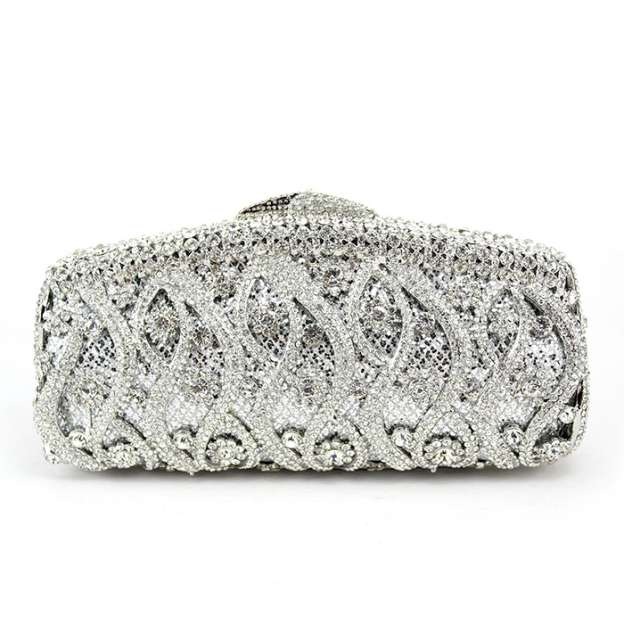 Metal Chain Clutches With Crystal/Rhinestone