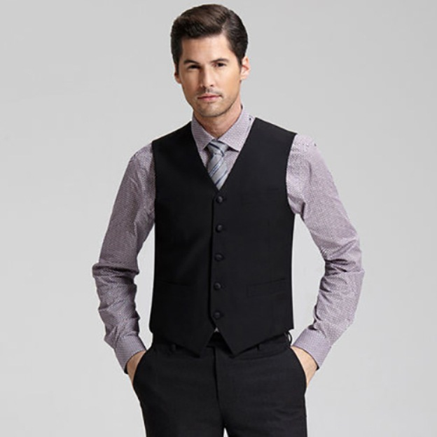 Men'S Cotton Anniversary Engagement Wedding Men'S Waistcoat