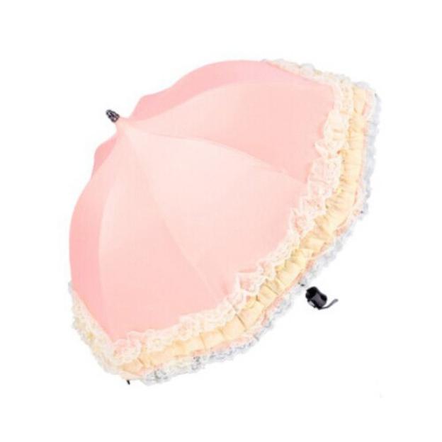 Cotton Women'S Cylindrical Handle Wedding Umbrellas
