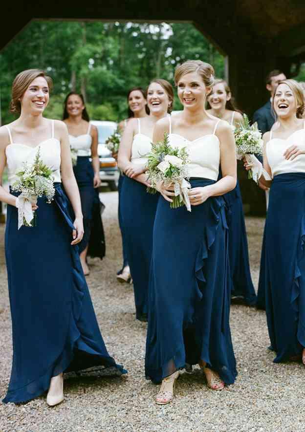 A-Line/Princess Sweetheart Sleeveless Ankle-Length Chiffon Bridesmaid Dresses With Ruffles