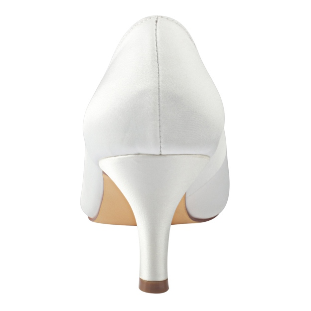 Close Toe Stiletto Heel Satin Wedding Shoes With Bowknot