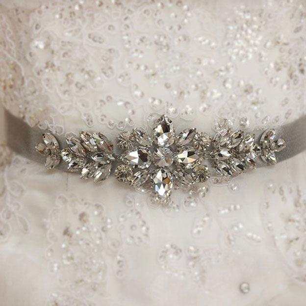 Satin Wedding Sashes With Rhinestone