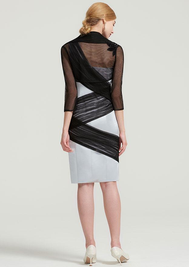 Full/Long Sleeve Short Length Tulle Jacket