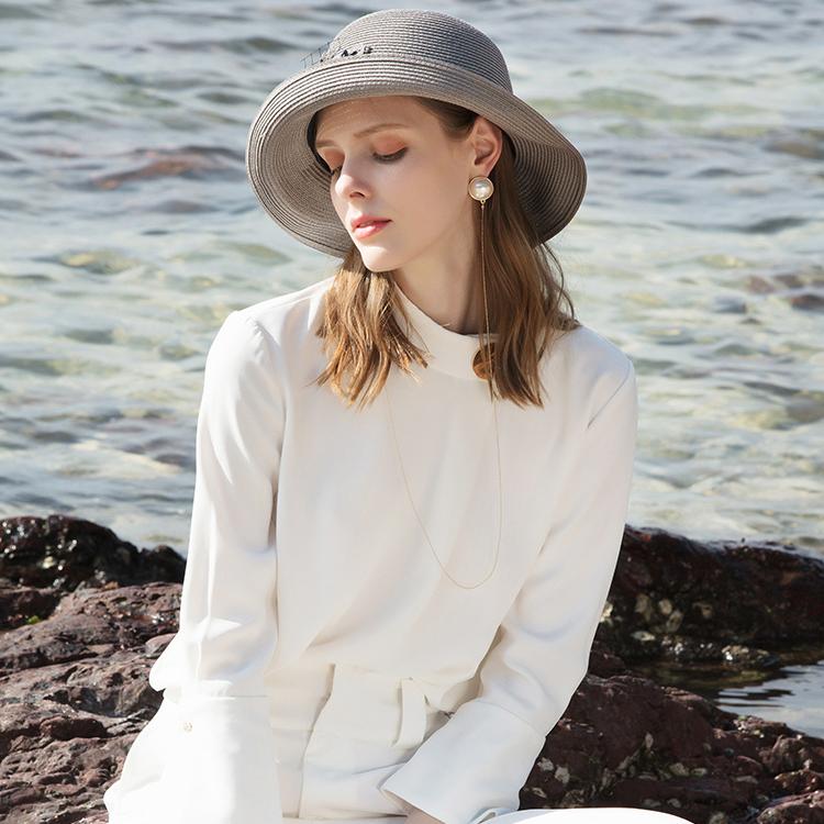 Ladies' Elegant/Unique Pp Straw Hats/Beach/Sun Hats With Beading