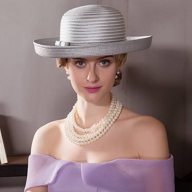 Ladies' Glamourous/Special Polyester Straw Hats/Beach/Sun Hats With Bowknot