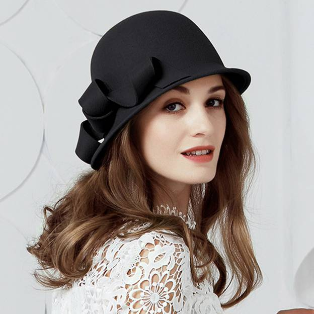Ladies' Eye-catching/Nice Wool Bowler/Cloche Hats