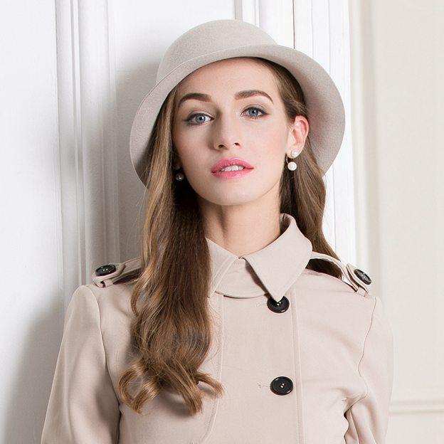 Ladies' Fancy/Elegant Wool Bowler/Cloche Hats/Tea Party Hats