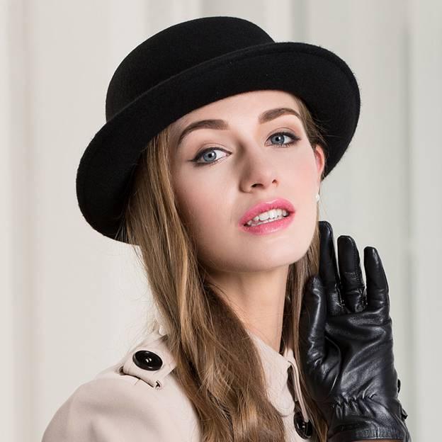 Ladies' Elegant/Classic Wool Bowler/Cloche Hats/Tea Party Hats