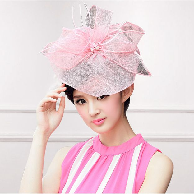Ladies' Beautiful/Eye-catching Cambric Fascinators/Tea Party Hats With Feather Imitation Pearls