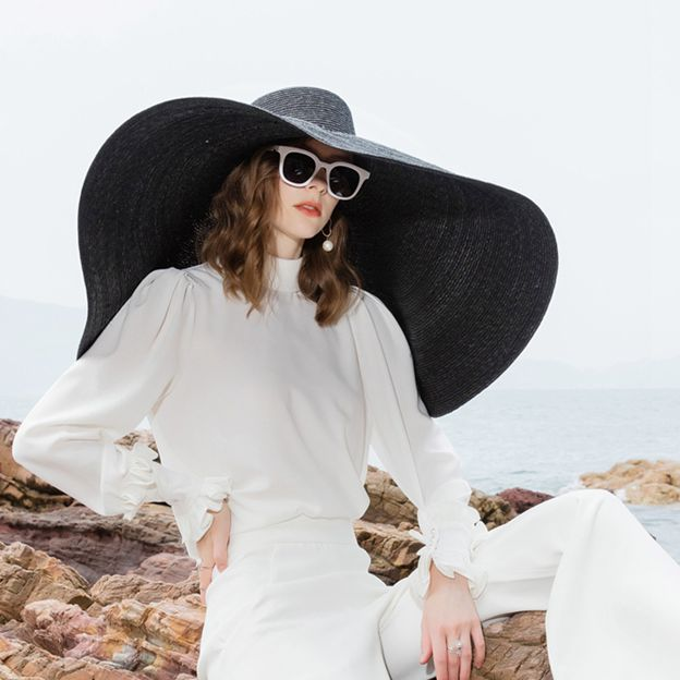 Ladies' Glamourous/Special Wheat Straw Straw Hats/Beach/Sun Hats