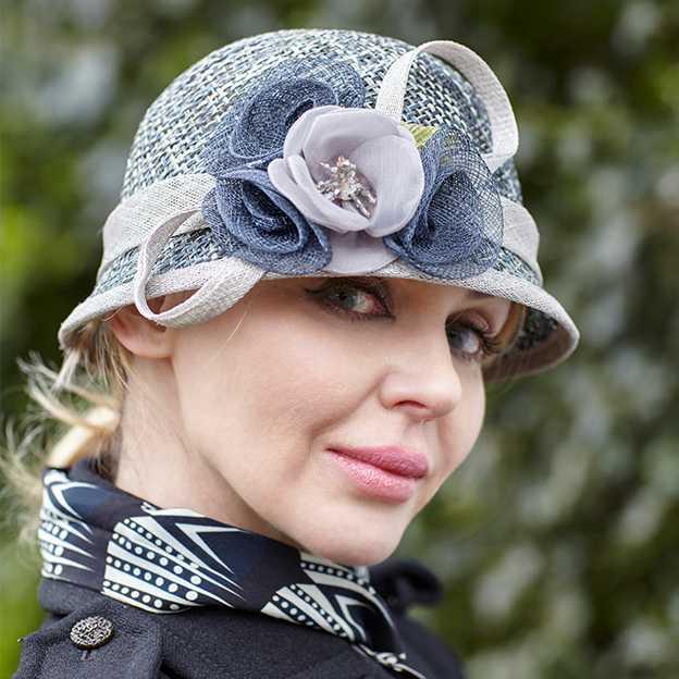Ladies' Beautiful/Elegant Rattan Straw Straw Hats/Tea Party Hats Beading Flower