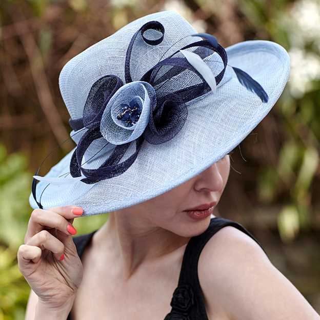 Ladies' Elegant/Beautiful Linen Beach/Sun Hats/Kentucky Derby Hats With Feather Flower
