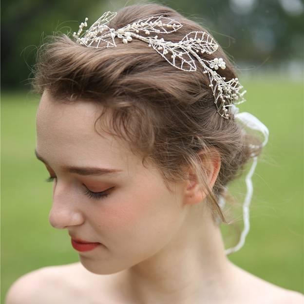 Ladies Alloy/Freshwater Pearl With Beads/Rhinestone Headbands