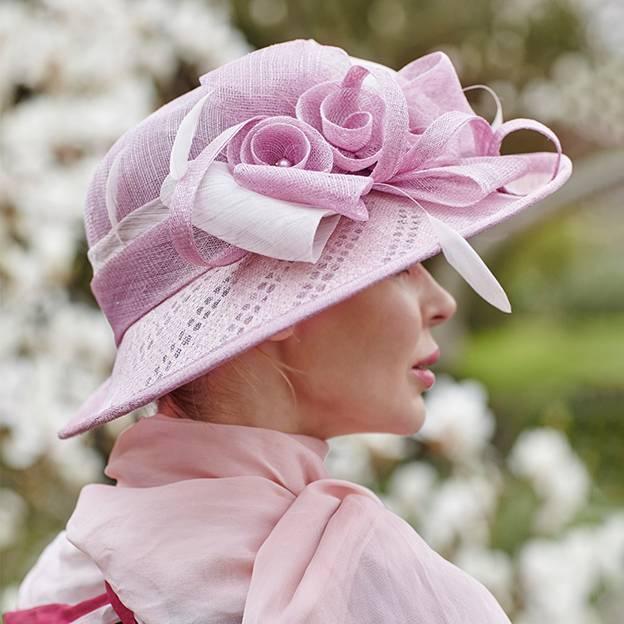 Ladies' Elegant/Beautiful Linen Beach/Sun Hats/Tea Party Hats With Imitation Pearls Feather Flower
