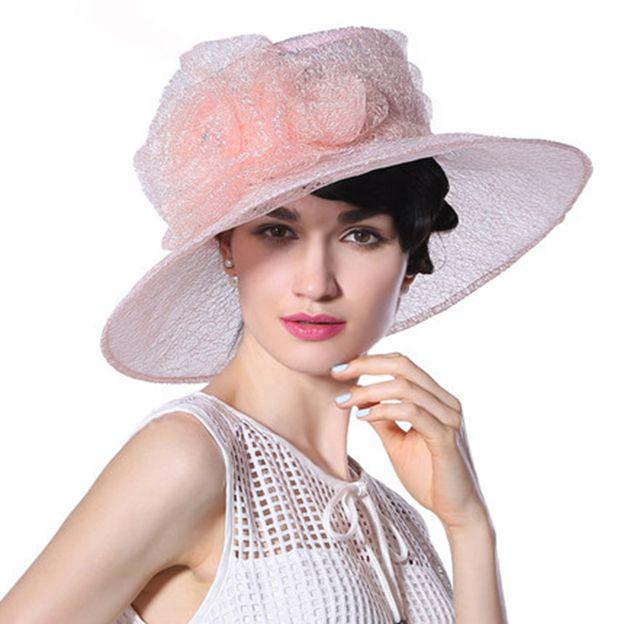 Ladies' Elegant/Beautiful Organza Organza Hat/Tea Party Hats With Flower Diamond Imitation Pearls