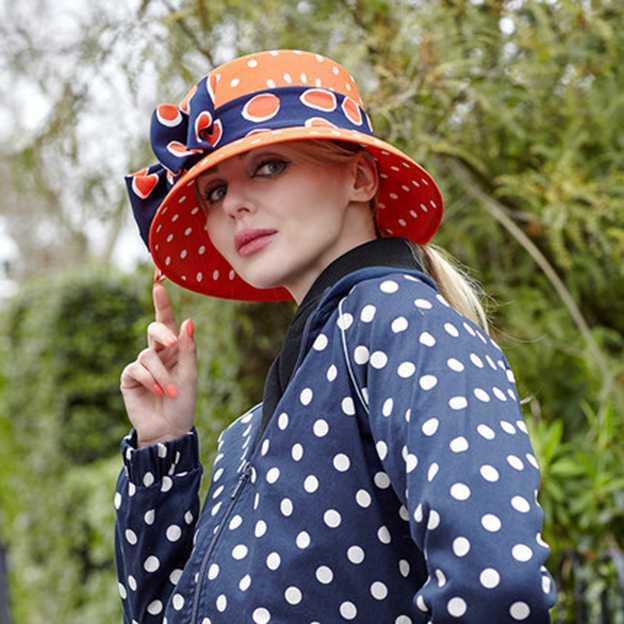 Ladies' Elegant/Special Chiffon Floppy Hats/Beach/Sun Hats With Bowknot