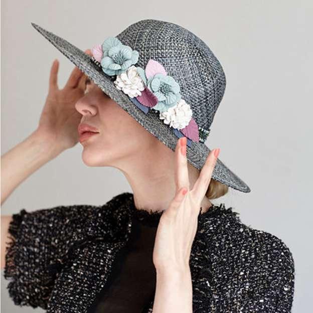 Ladies' Beautiful/Elegant Linen Beach/Sun HatsTea Party Hats With Flower