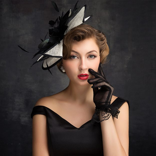 Ladies' Eye-catching/Elegant Cambric Fascinators With Feather Flower