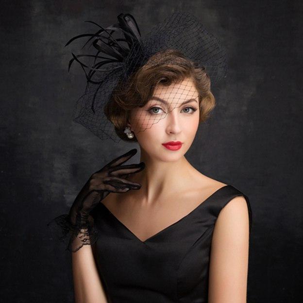 Ladies' Elegant/Glamourous Net Yarn Cambric Fascinators With Bowknot Imitation Pearls