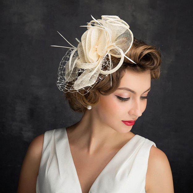 Ladies' Elegant/Beautiful Cambric Fascinators With Feather Tulle